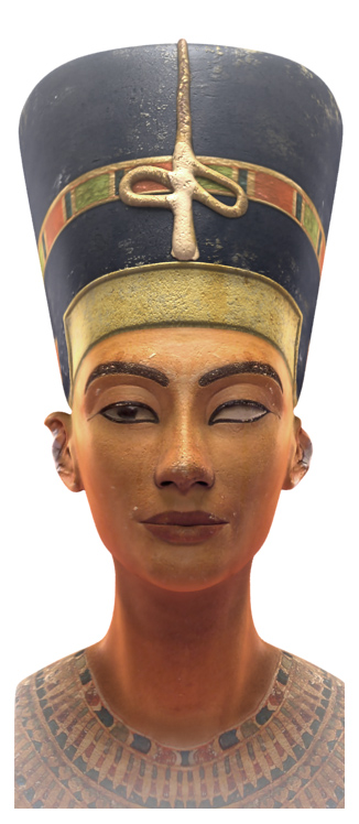 Illustration 3D du buste de Nefertiti